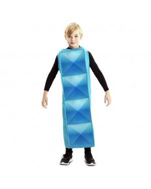 Costume Tetris Bambino Cyan per Carnevale | La Casa di Carnevale