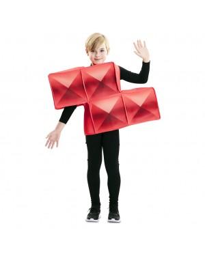 Costume Tetris Bambino Rosso per Carnevale | La Casa di Carnevale