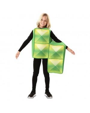 Costume Tetris Bambino Verde per Carnevale | La Casa di Carnevale