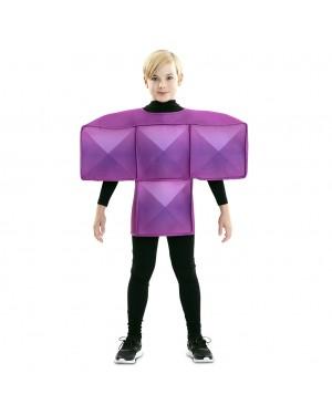 Costume Tetris Bambino Viola per Carnevale | La Casa di Carnevale