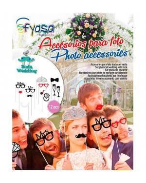 Accesori Para Foto con Bacchetta Photocall Atrezzo Matrimonio 12 Udes.