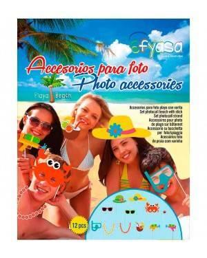 Accesori Para Foto con Bacchetta Photocall Atrezzo Spaggia 12 Udes.