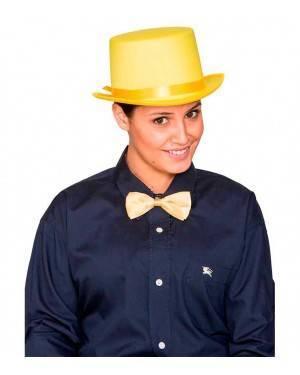 Cappello Cilindro Satinato Giallo
