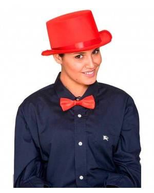 Cappello Cilindro Satinato Rosso