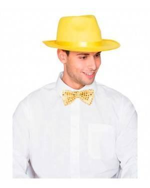 Cappello Gangster Feltro Giallo