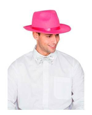 Cappello Gangster Feltro Rosa