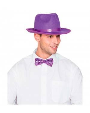 Cappello Gangster Feltro Viola
