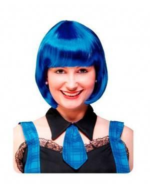 Caschetto Blu con Frangia Fluo