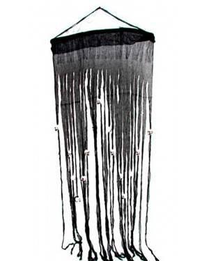 Copriporta Nera con Teschio 70x180cm