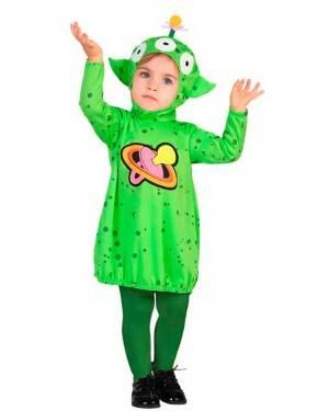 Costume Aliano Bambina 12-24 Mesi per Carnevale