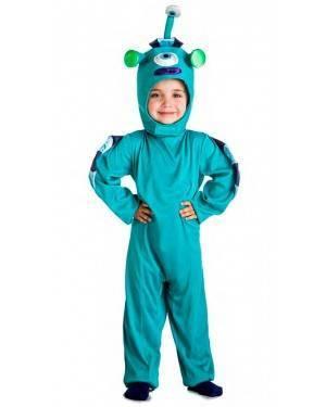 Costume Alieno Azzurro Taglia 3-4 Anni per Carnevale