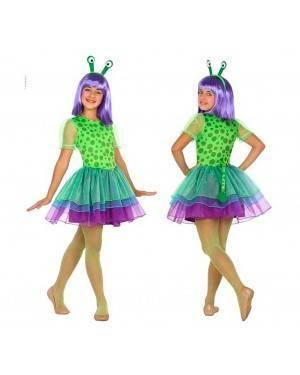 Costume Alieno Bambina 7-9 Anni