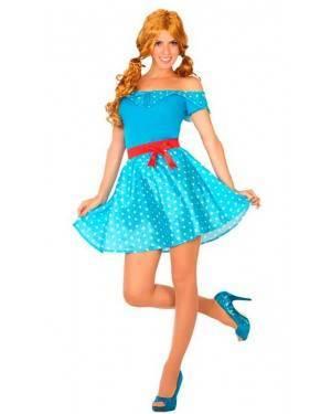 Costume Anni´50 Blu M/L per Carnevale