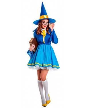Costume Apprendista Mago Azzurra Taglia M/L per Carnevale
