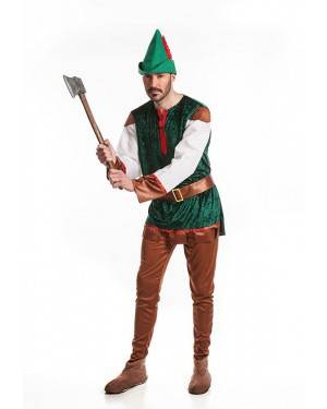Costume Arciere Robin Adulto T. M/L