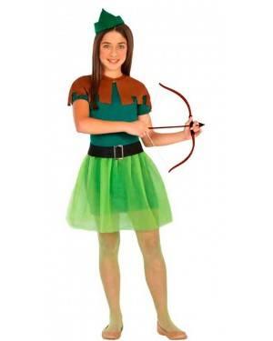 Costume Arciere Robin Bambina 5-6 Anni