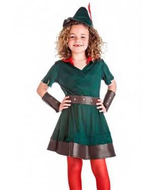 Costume Arciere Robin Bambina Tg. 3-4 Anni