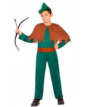 Costume Arciere Robin Bambino 3-4 Anni