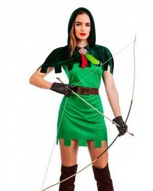 Costume Arciere Robin Donna Tg. M/L