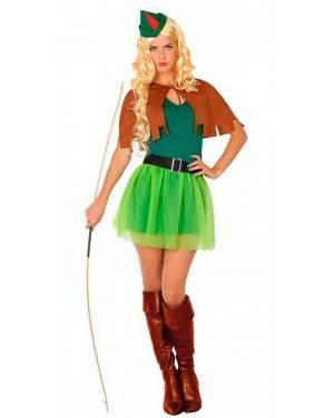 Costume Arciere Robin Donna XS/S