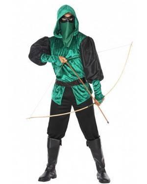 Costume Arciere Verde Adulto per Carnevale | La Casa di Carnevale