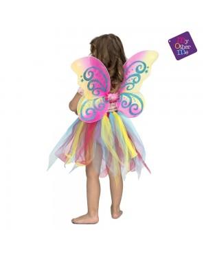 Costume Arcobaleno con Ali 3-6 Anni per Carnevale | La Casa di Carnevale