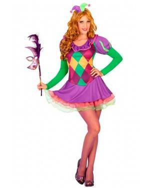 Costume Arlecchino Donna XL
