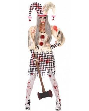 Costume Arlecchino Sanguinante Donna per Carnevale | La Casa di Carnevale