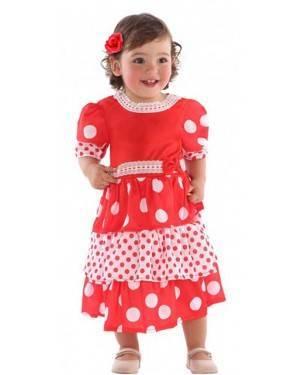 Costume Ballerina di Flamenco Rosso Bebè per Carnevale | La Casa di Carnevale