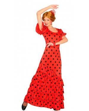Costume Ballerina Flamenco Rosso XL