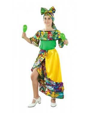 Costume da Ballerina di Rumba Brasiliana Bambina