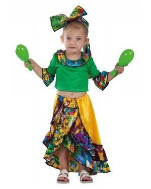 Costume da Ballerina di Rumba Brasiliana Bimba 24 Mesi