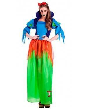 Costume Biancaneve Zombie Taglia M/L per Carnevale