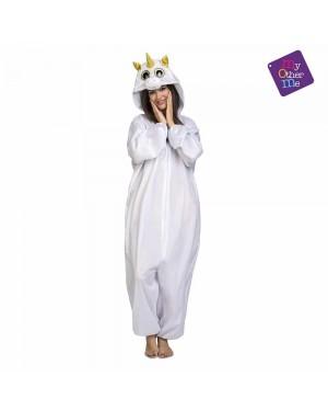 Costume Big Eyes Unicorno Bianco Adulto per Carnevale | La Casa di Carnevale