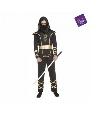 Costume Black Ninja Adulto per Carnevale | La Casa di Carnevale