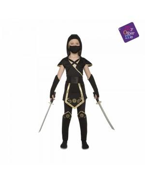 Costume Black Ninja Bambina per Carnevale   La Casa di Carnevale