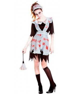 Costume Cameriera Zombie Taglia M/L per Carnevale