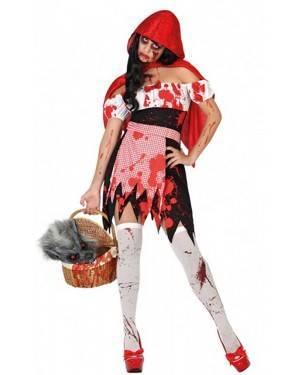 Costume Cappuccetto Rosso Sanguinante Donna per Carnevale | La Casa di Carnevale
