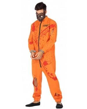 Costume Carcerato Arancione Adulto per Carnevale | La Casa di Carnevale