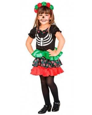 Costume Catrina Bambina 2-3 Anni per Carnevale