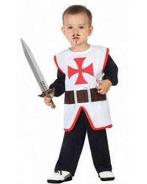 Costume Cavaliere Crociato Bebè per Carnevale | La Casa di Carnevale