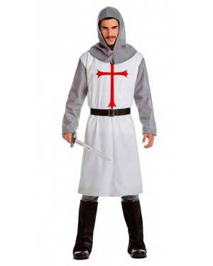 Costume Cavaliere Crociato Medievale Bianco Tg. XL