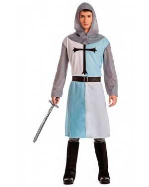 Costume Cavaliere Crociato Medievale Blu Tg. M/L