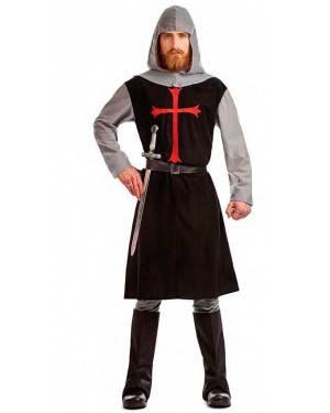 Costume Cavaliere Crociato Medievale Nero Tg. M/L