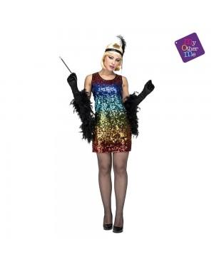 Costume Charleston con Paillettes M/L per Carnevale | La Casa di Carnevale