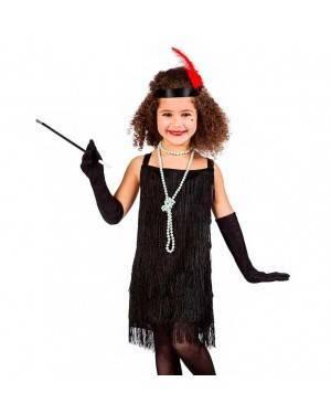 Costume Charleston Frange Nero per Carnevale | La Casa di Carnevale