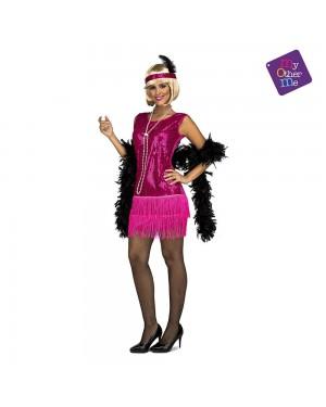 Costume Charleston Fucsia  M/L per Carnevale | La Casa di Carnevale