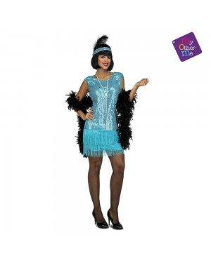 Costume Charleston Turchese  M/L per Carnevale | La Casa di Carnevale