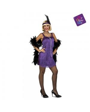 Costume Charleston Viola  M/L per Carnevale | La Casa di Carnevale