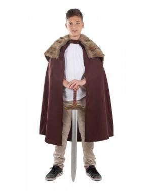 Costume con Mantello Medievale Bambino
